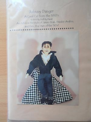 Johnny Danger cloth doll pattern.Very cute pattern, is new and uncut.
