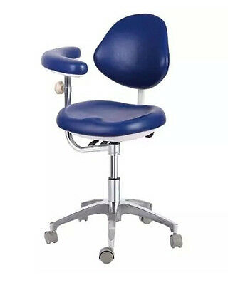 New Medical Dentist/Assitant Adjustable Mobile Chair Doctor's Stools PU Leather