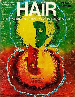 HAIR The American Tribal Love Rock Musical Vocal selection - VINTAGE SHEET MUSIC