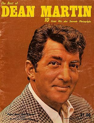 Dean Martin - The Best Of Songbook - Vintage Sheet Music Album - 10 Great Hits