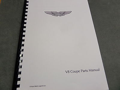 Aston Martin V8 Coupe parts manual