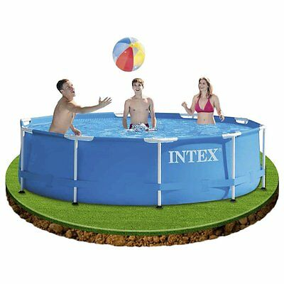 Outdoor Swimming Pool Large Metal Frame Familly Kids Water Fun Garden 10'x30""