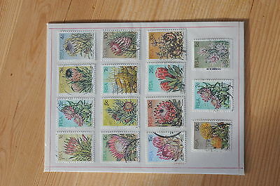 1977 South Africa, Flower Stamps in folder
