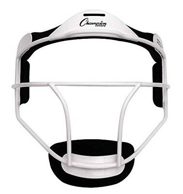 Champion Sports Softball ADULT Pitcher / Fielder Mask, Wide Vision, White