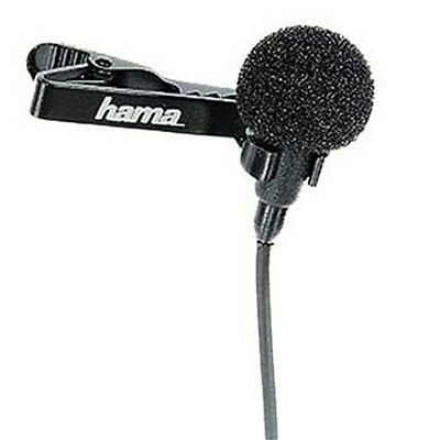 Hama LM-09 Lavalier Tie Clip External Microphone Mic for DSLR & Video Camera