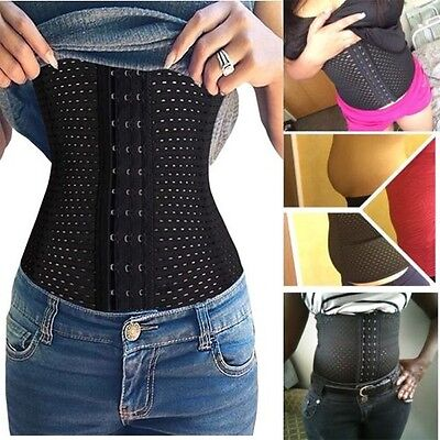 Women Steel boned Waist Training Cincher Underbust Corset Body Shaper Sport