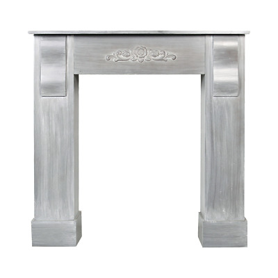 Mobili Rebecca® Mantelpiece Fire Surround Fireplace Wood Grey Country Home