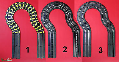 Artin 1:43 Slot Car Road Racing Curves and Straights Track Extension Set Choice