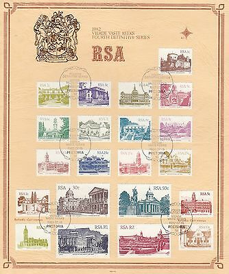 (74759A) CLEARANCE South Africa FDC Definitives - Pretoria 15 July 1982