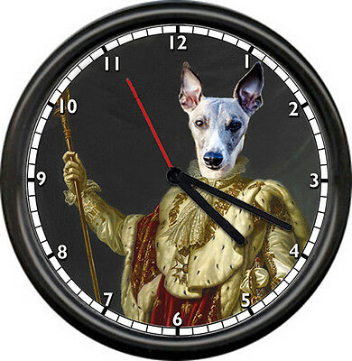 Whippet Dog Royalty Pet Store Groomer Animal Lover Show Breed Sign Wall Clock
