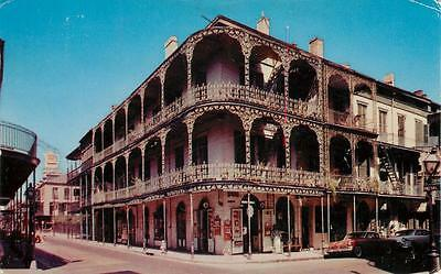 NEW ORLEANS LA Lace Balconies Royal Street Scene Louisiana Vintage Postcard 1957
