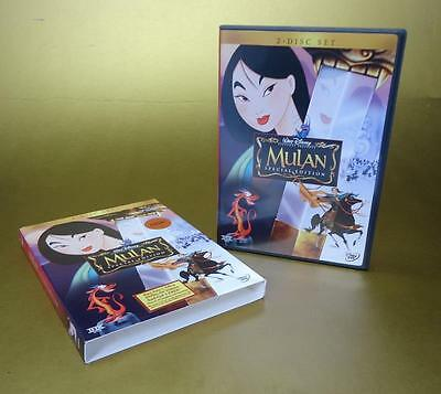 Mulan DVD, 2004, 2-Disc Set, Special Edition Disney region 1