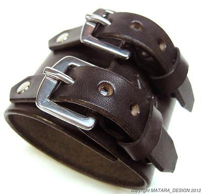 Leather Watchband Custom Brown Cuff Johnny Depp bracelet  Made for YOU in NYC!