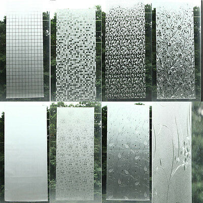 Privacy Frosted Home Bedroom Bathroom Door Window Sticker Glass Film Waterproof