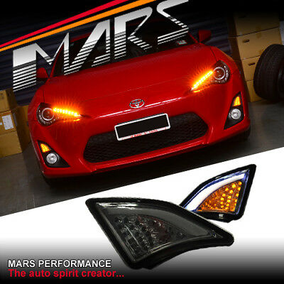 Smoked LED Bumper Bar Indicator lights Turn Signal Marker for Toyota 86 GT GTS