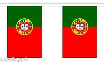 Portugal Polyester Flag Bunting - 3m long with 10 Flags