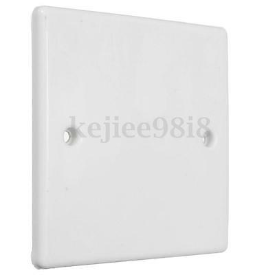 White Single 1 One Gang Plug Electric Mains Wall Socket Blanking Plate Cover New