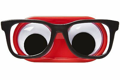 Googly Eyes Glasses Geeky Contact Lens Case Nerd Geek