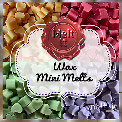 50 Highly Scented Mini Wax Melts | Mini Wax Tarts for melt burner | USA scents