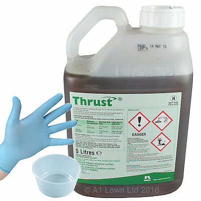 Nufarm Thrust Selective Herbicide Chemical Lawn Weed Killer 5 Litres