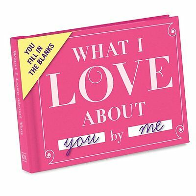 KNOCK KNOCK What I love about you by me Hard Cover Journal Say how you feel Book