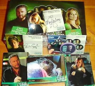CSI: Las Vegas Series 3 Strictly Ink Sealed Box Autograph Trading Cards + Promos