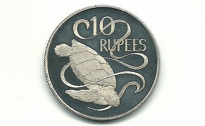 Seychelles 1974 10 Rupees Silver Proof Coin