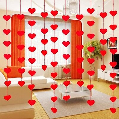 2 Metres Wedding Bunting Banner Love Heart Paper Garland Home Party Decorations