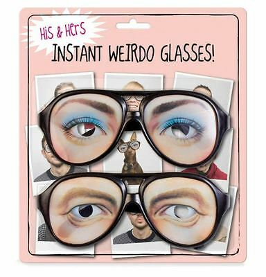 NPW Novelty His & Hers Instant Weirdo Party Glasses Spectacles