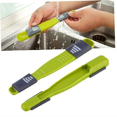 Double End Eight Stalls Adjustable Scale Measuring Spoons Metering Spoon AR