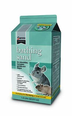Supreme Petfoods Science Bathing Sand 1.5 Litre Pet Supplies New