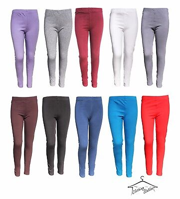 GIRL'S,Kids PLAIN COTTON STRETCHY  LEGGINGS FOR 3 TO 9 YEARS. CODE- G-16