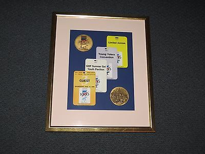 Republican National Convention 1996 Framed Badges Tickets & Commemorative Coins