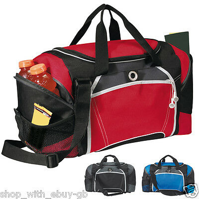 40L Large Duffel Bag Holdall Duffle Gym Luggage Travel Sport Mens Black Red Blue