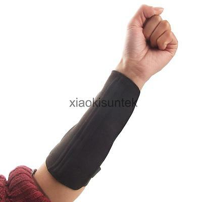 Archery Shooting Hunting Shooting Arm Guard 3 Buckle Strap Protection Black