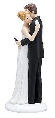 Texting Bride and Groom Figurine Wedding Cake Topper Resin Cell Phone Funny Gift