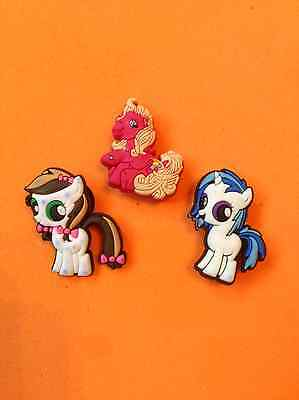 3a8cf87f4f39c NEW TRIPLE PACK My Little Pony Jibbitz Shoe Charm Charms For Crocs Jellies