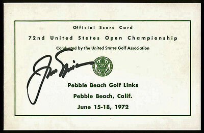 Jack Nicklaus Authentic Signed Official 1972 US Open Scorecard PSA/DNA #AA01986