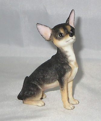 """Chihuahua Figurine Short Hair Dog Tri Color New 3 3/8"""" High Pets Puppy"""