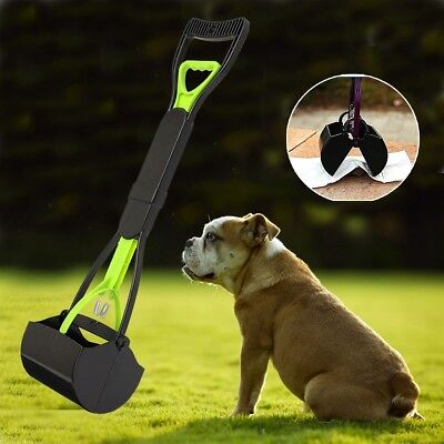 "Dog Cat Pet Pooper Scooper Jaw Poop Scoop Clean Pick Up Waste 24"" Long Handle"