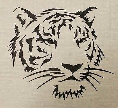Scrapbooking - STENCILS TEMPLATES MASKS SHEET - Tiger Stencil