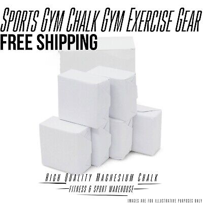 8x Gym Chalk Magnesium Sport Weightlifting Climbing Crossfit Exercise Gym Supply