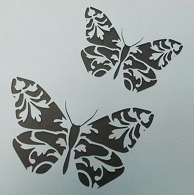 Scrapbooking - STENCILS TEMPLATES MASKS Sheet - Butterflies