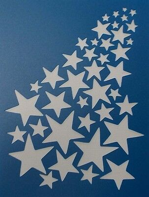 Scrapbooking - STENCILS TEMPLATES MASKS SHEET - Star Background Stencil