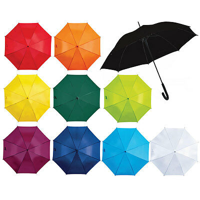 Colourful Strong Windproof Umbrella Push Button Automatic Ladies Men Black White