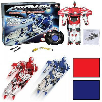 Radio Remote Controlled Airman Flying Adventure Rc Superhero Humanoid Toy Robot