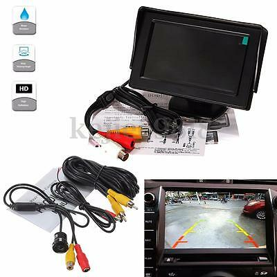 "Car Rear View Kit For Bus Truck 4.3"" Lcd Monitor + Night Vision Reversing Camera"