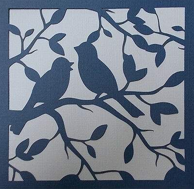 Scrapbooking - STENCILS TEMPLATES MASKS Sheet - Birds
