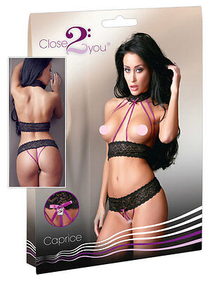 Completino Intimo Sexy Lingerie Close2You Hot Underwear Lace Set