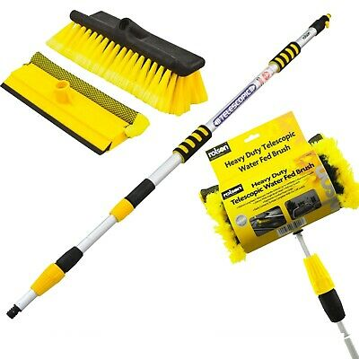 Rolson 3M 9Ft Aluminium Telescopic Water Fed Window Van Wash Brush Extendable